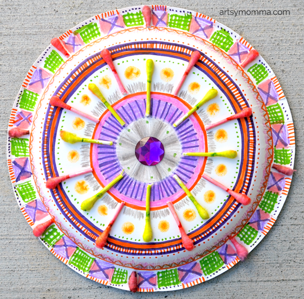 DIY Mandala Craft using a Paper Plate