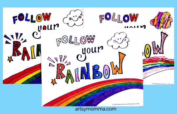 Rainbow Saying Coloring Page