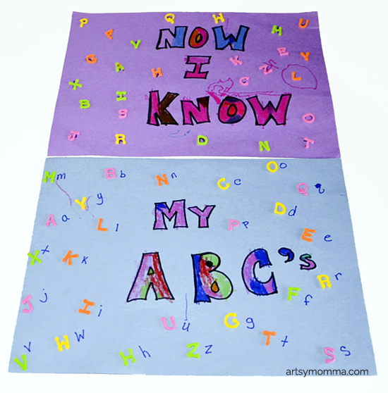 Uppercase Lowercase Letter Matching Activity with Foam Stickers