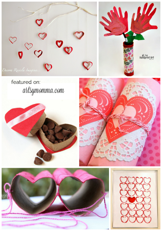 Valentine's Day Cardboard Tube Crafts for Kids