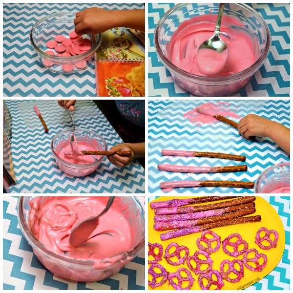 Kid-Made Valentine's Day Pretzel Wands & Hearts