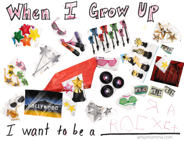 When I Grow Up Collage Craft Follow Your Rainbow Printable