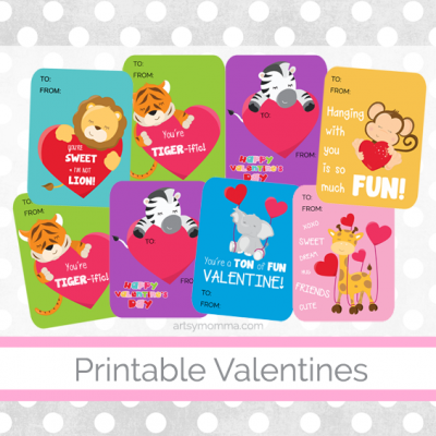 Adorable Animal Valentines You Can Print