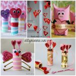 Adorable Cardboard Tube Crafts for Valentine's Day