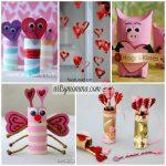 24 Super Sweet Cardboard Tube Valentine's Day Crafts