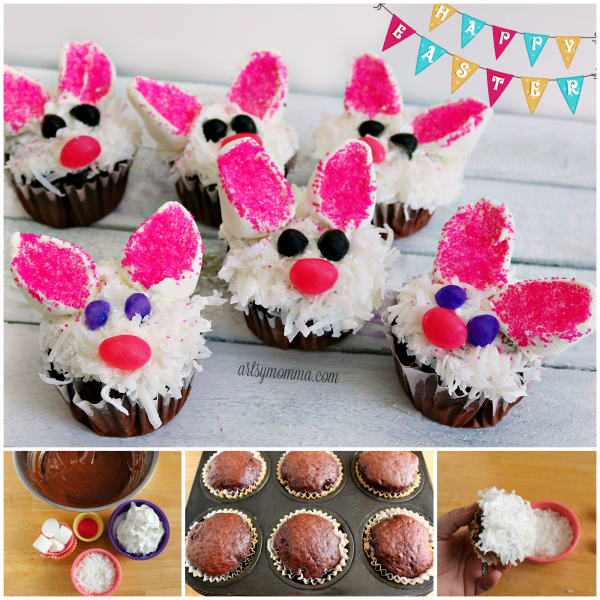 Bunny Face Easter Cupcakes Recipe Tutorial