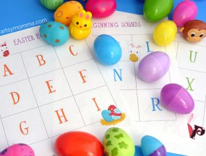 Letter Sounds Easter Egg Hunt - Preschool Activity