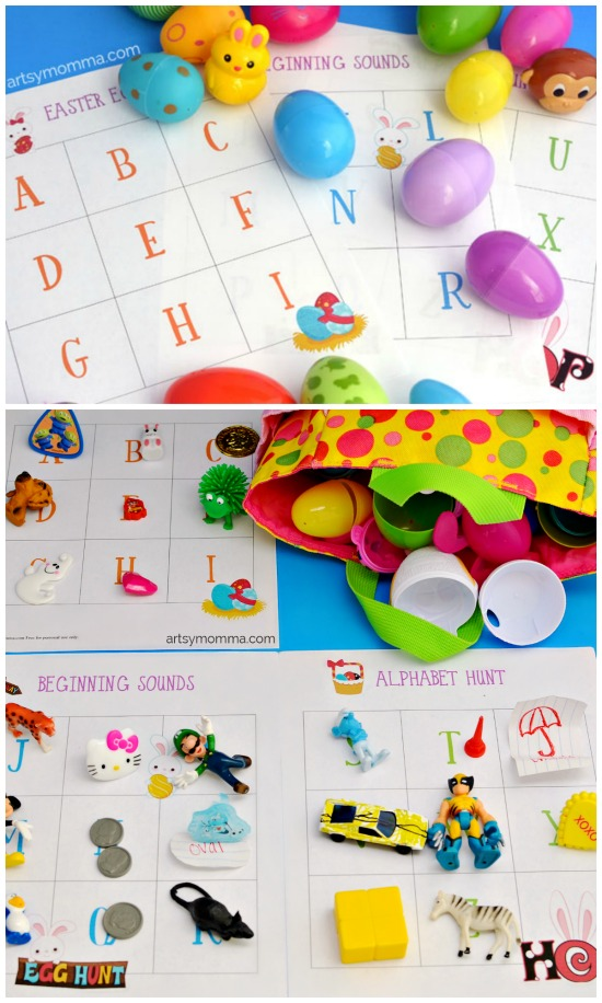 Beginning Sounds Alphabet Easter Egg Hunt for Preschoolers