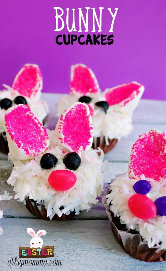Cutest Ever Bunny Cupcakes for Easter Dessert - Recipe Tutorial