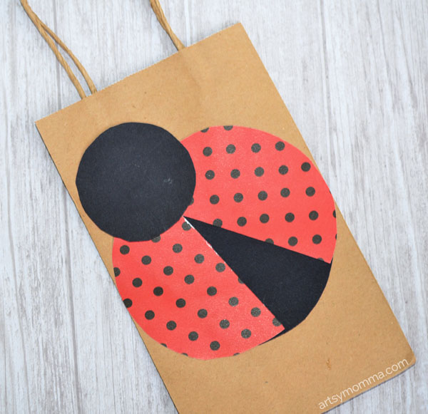 Creative Station Lite Craft: Ladybug Gift Bag Tutorial