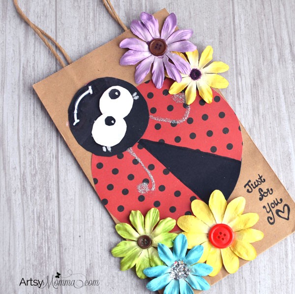 Adorable Ladybug Gift Bag Craft Tutorial