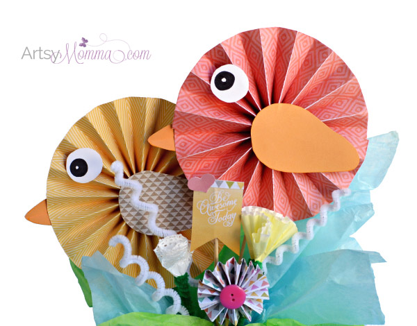 How to make a Paper Rosette Bouquet for Spring