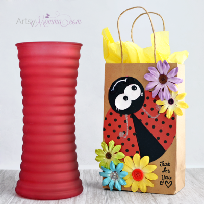 Cutesy DIY Ladybug Gift Bag Tutorial