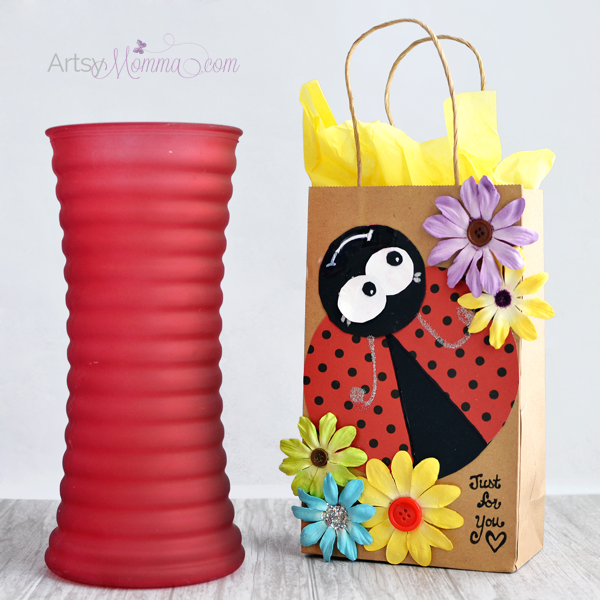 Cutesy DIY Ladybug Gift Bag Tutorial