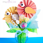 DIY Paper Bird Bouquet Spring