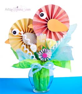 DIY Paper Bird Bouquet Spring