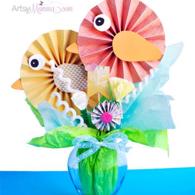 DIY Paper Bird Bouquet – Pretty Spring Decoration!