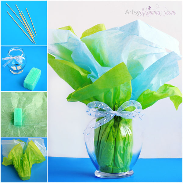 How to make a SPring Bouquet with Paper Products