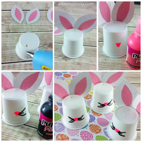 How to Make a Bunny from a K Cup - Recycled Craft for Kids