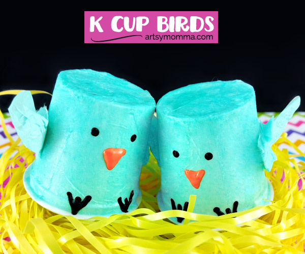 How to make K Cup Baby Bluebirds Craft with Kids