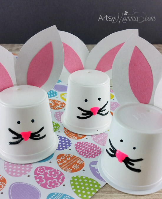 Simple K Cup Bunny Craft for Easter