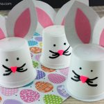 Adorable K Cup Bunny Craft for Spring or Easter!