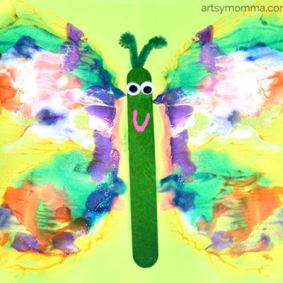 Learning Symmetry with Butterfly Painting Craft