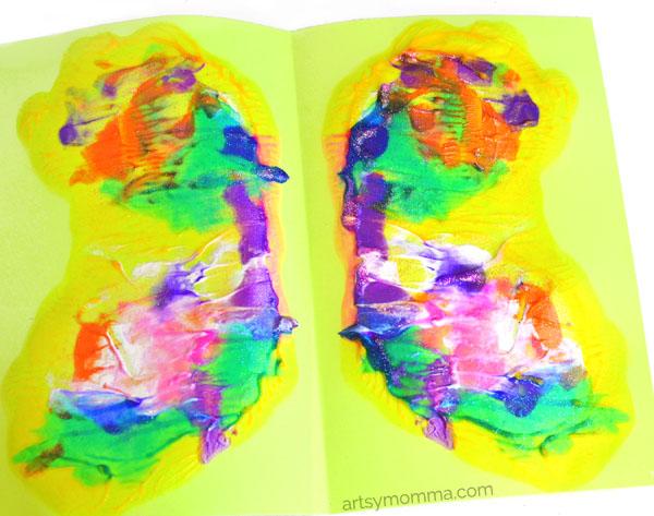 Paint Blob Symmetry Butterfly Art Project