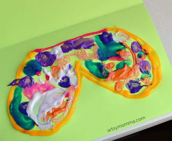 Kids Painted Butterfly Symmetry Art