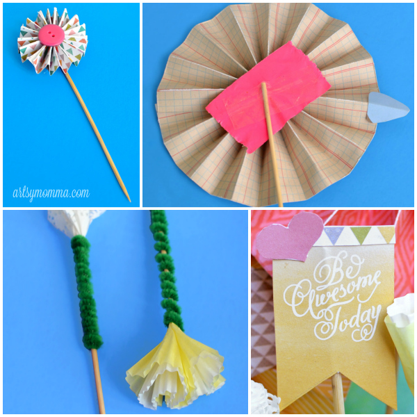 DIY Paper Bouquet Embellishments