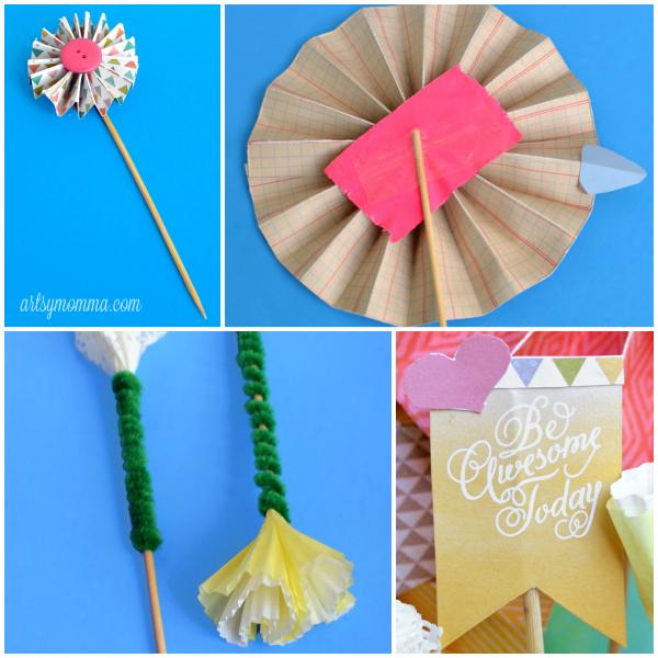 DIY Paper Bouquet Embellishments