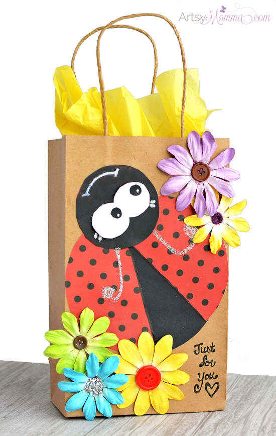 DIY Ladybug Gift Bag Tutorial using the Xyron Creative Station Lite
