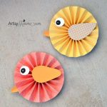 How to turn paper rosettes into a Spring Bird Decoration