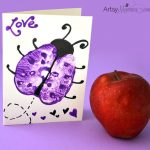 Turn Apple Prints into Ladybugs! Creative Card Idea