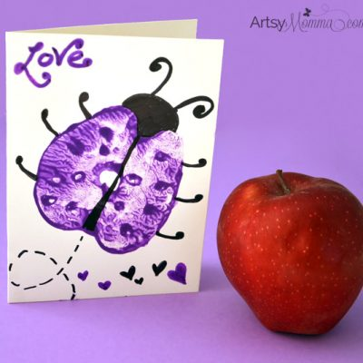 Apple Print Ladybugs – Story + Art