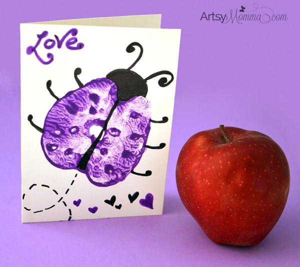 Apple Print Ladybugs – Story + Art