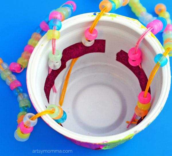 Repurposed Yogurt Container Kids Craft