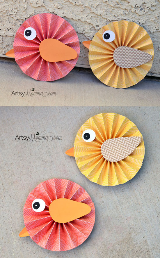 How To Make Paper Rosette Birds Artsy Momma