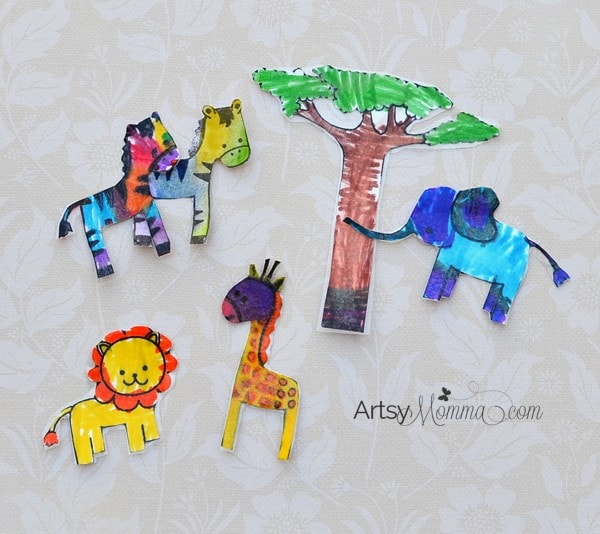 Wild Things Animal Stamp Craft for Kids