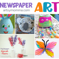 Getting Artsy with Recycled Newspaper Crafts!