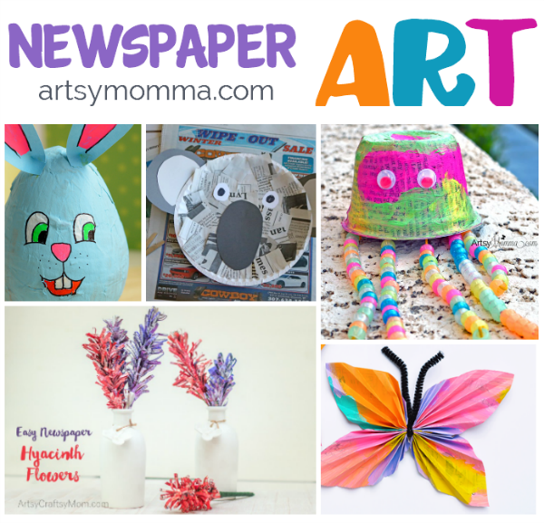 Recycled Newspaper Art and Craft Ideas for Kids