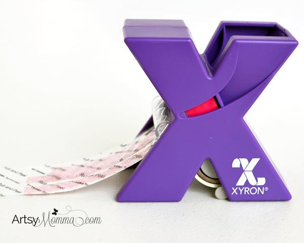 DIY Ribbon Stickers using Xyron Sticker Maker
