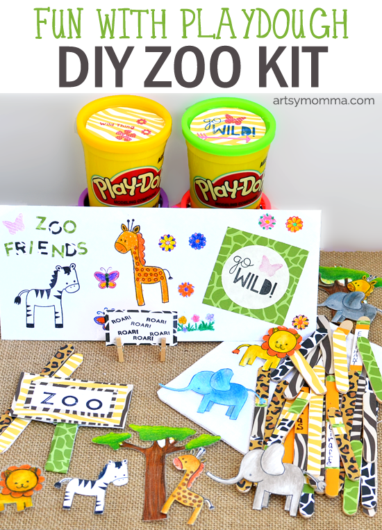 DIY Playdough Zoo Kit - Kids Craft & Activity