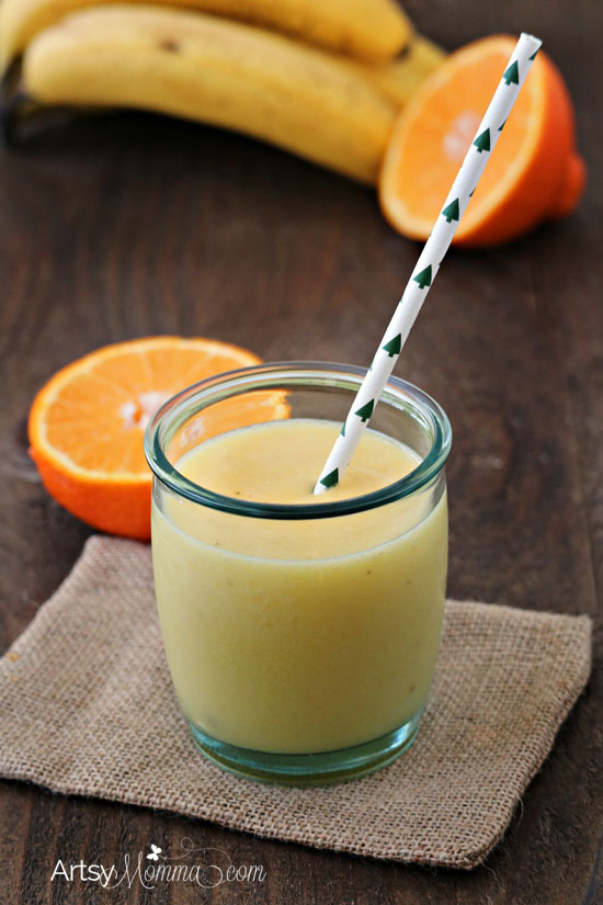 Frozen Summer Drink: Banana Orange Smoothie
