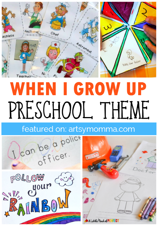 Fun Career Worksheets : When i grow up preschool theme artsy momma