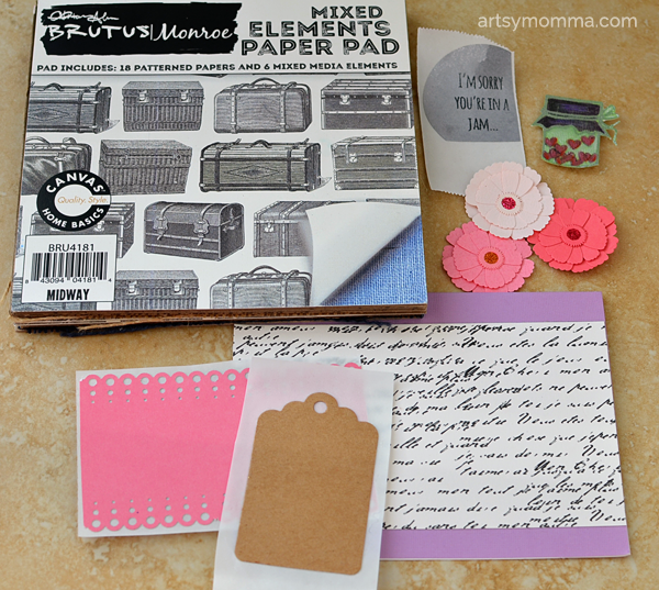 Handmade Card Using Brutus Monroe Stamps & Xyron Products