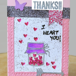 Pretty Handmade Stamped Jar Cards