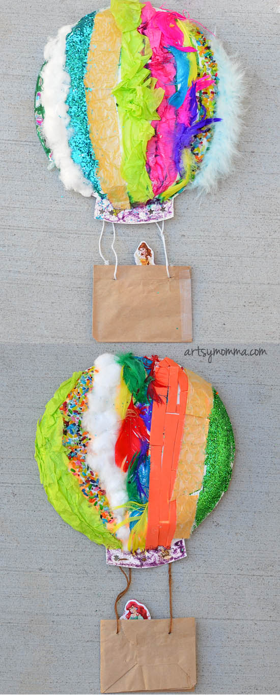 textured hot air balloon sensory craft artsy momma