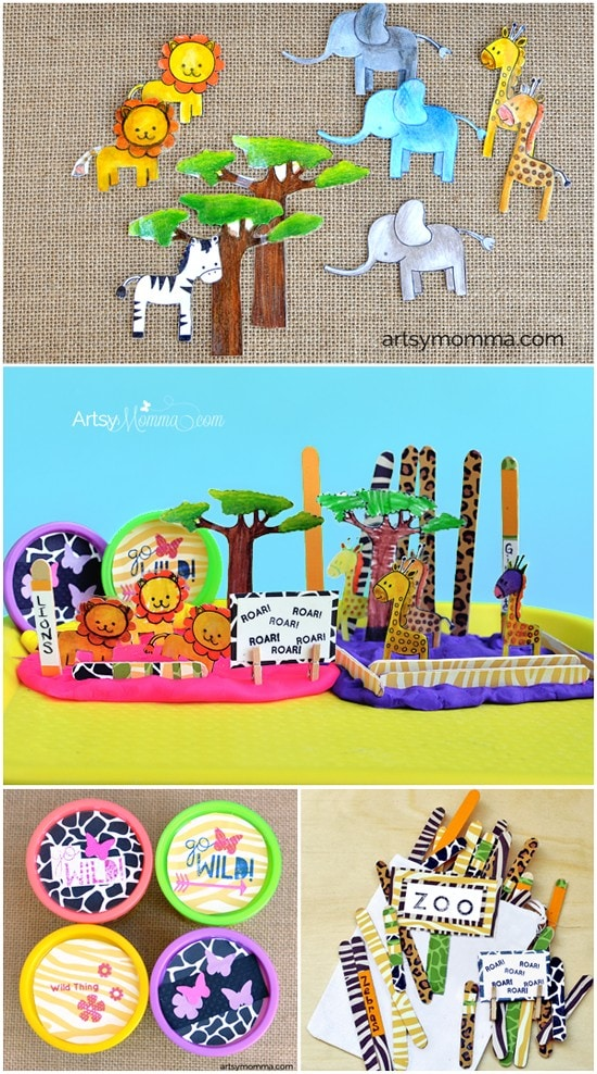 How to make a Zoo Themed Play Dough Kit