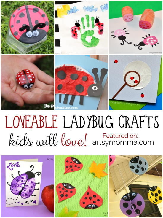 Ladybug Craft Collage